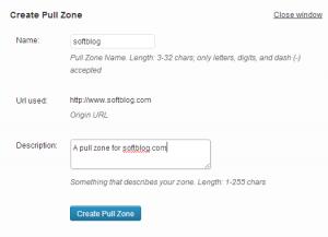 Create a pull zone